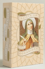 Based on a collection of vintage holy cards, this set of notecards offers the perfect saint to send for every occasion. Send your best wishes with St. Casilda (invoked for luck), St. Vitus (invoked for laughter), and St. Teresa of Ávila (invoked for healing). For Mother's Day there is St. Monica (Patron Saint of Mothers) and for graduations there is St. Thomas Aquinas (Patron Saint of Students). The gorgeous foil-stamped box includes 20 envelopes and 20 cards, each featuring a different saint.""