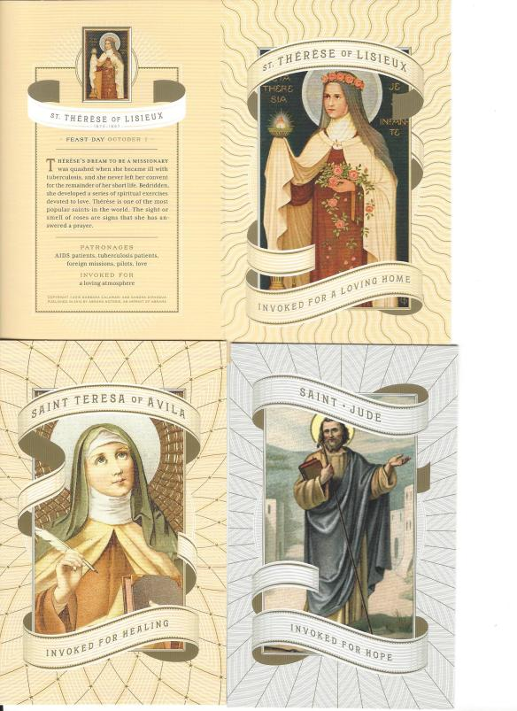 october saint cards